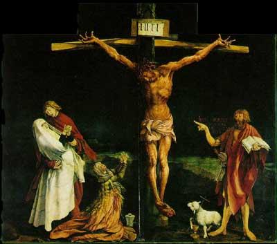 Matthias Grünewald, Crucifixion, 1515 (Colmar, Musée d'Unterlinden)