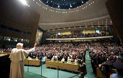 Pope Benedict XVI at the United Nations